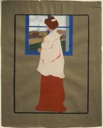 Femme à la Fenêtre (Automne) (Umberto Boccioni) - Muzeo.com