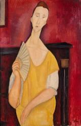 Femme à l'éventail (Lunia Czechowska) (Modigliani Amedeo) - Muzeo.com