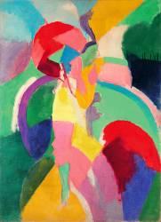 Femme à l'Ombrelle ou La Parisienne (Robert Delaunay) - Muzeo.com