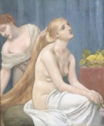 Femme à sa toilette ou La toilette (Pierre Puvis de Chavannes) - Muzeo.com