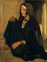 Femme Fellah ; Ombres et lumières (Bernard Emile) - Muzeo.com