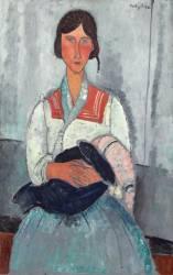 Femme gitane avec enfant. (Amedeo Modigliani) - Muzeo.com