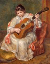 Femme jouant de la guitare (Auguste Renoir) - Muzeo.com