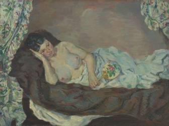 Femme nue couchée (Armand Guillaumin) - Muzeo.com