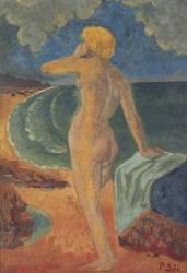 Femme nue devant la mer (Serusier Paul) - Muzeo.com