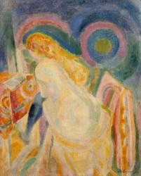 Femme nue lisant (Robert Delaunay) - Muzeo.com