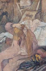 Femme se coiffant (Henri de Toulouse-Lautrec) - Muzeo.com