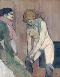 Femme tirant son bas ou Femme de maison (Henri de Toulouse-Lautrec) - Muzeo.com