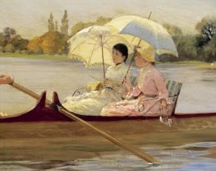 Femmes dans un Bateau sur la Tamise (Giuseppe de Nittis) - Muzeo.com