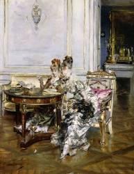 Femmes élégantes dans un intérieur (Giovanni Boldini) - Muzeo.com