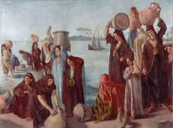 Femmes puisant de l'eau au bord du Nil (Bernard Emile) - Muzeo.com