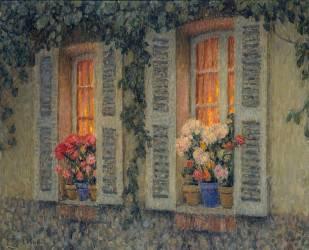 Fenêtres au crépuscule (Henri Le Sidaner) - Muzeo.com