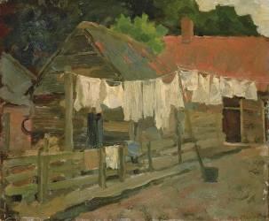 Ferme et linge séchant au soleil (Mondrian Piet) - Muzeo.com