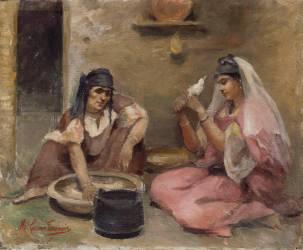 Fileuses algériennes (Caire Marie) - Muzeo.com