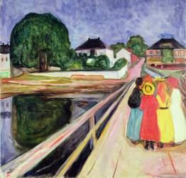 Fille sur un pont (Edvard Munch) - Muzeo.com