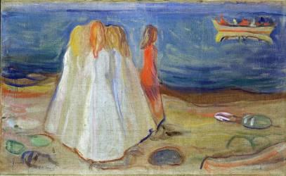 Filles sur le rivage (Edvard Munch) - Muzeo.com