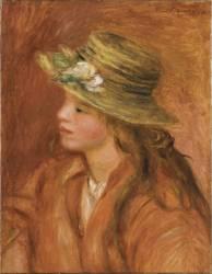Fillette au chapeau de paille (Auguste Renoir) - Muzeo.com