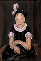 fillette en noir et rose (Blanchard Maria) - Muzeo.com