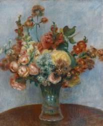 Fleurs dans un vase (Auguste Renoir) - Muzeo.com