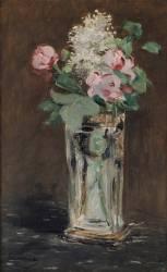 Fleurs dans un vase de cristal (Edouard Manet) - Muzeo.com