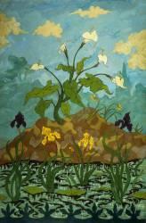 Fleurs de Lys, Iris Jaunes et Violettes (Paul-Elie Ranson) - Muzeo.com