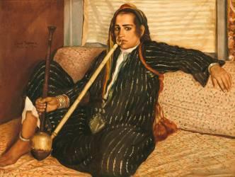Fumeuse de haschich ou Fumeuse de Tombac (Bernard Emile) - Muzeo.com