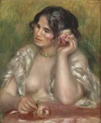Gabrielle à la rose (Auguste Renoir) - Muzeo.com