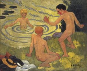 Garçons sur un Banc de Rivière (Paul Sérusier) - Muzeo.com