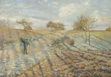 Gelée blanche (Camille Pissarro) - Muzeo.com