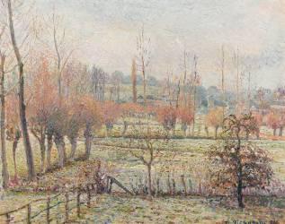 Gelée blanche, matin (Camille Pissarro) - Muzeo.com