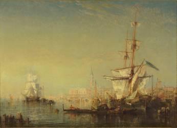 Grand voilier en vue de Venise (Félix Ziem) - Muzeo.com