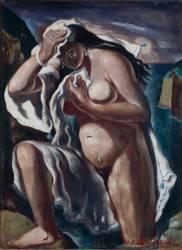 Grande baigneuse à la draperie (La Patellière Amédée de) - Muzeo.com