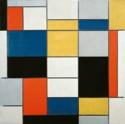 Grande Composition (Piet Mondrian) - Muzeo.com