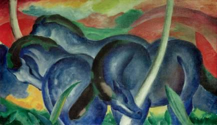 Grands chevaux bleus (Franz Marc) - Muzeo.com