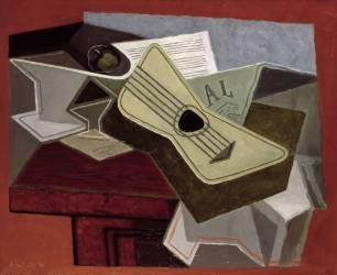 Guitare et Journal (Juan Gris) - Muzeo.com