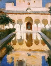 Hall de l'ambassade, Alhambra, Grenade (Joaquin Sorolla y Bastida) - Muzeo.com