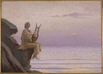 Harmonie du soir sur la mer (Alphonse Osbert) - Muzeo.com