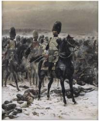 Haut les têtes Le colonel Lepic à Eylau le 8 février 1807 (Jean-Baptiste-Edouard Detaille) - Muzeo.com