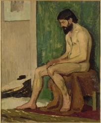 Homme barbu assis, académie (La Fresnaye Roger de) - Muzeo.com