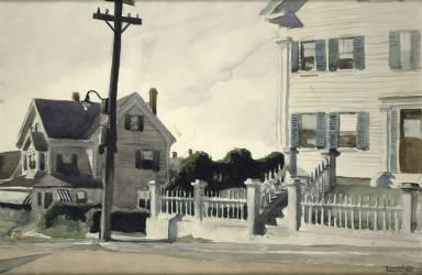 House with Fence (Edward Hopper) - Muzeo.com