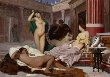 Intérieur grec (Jean Léon Gérôme) - Muzeo.com