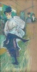 Jane Avril dansant (Henri de Toulouse-Lautrec) - Muzeo.com