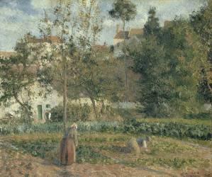 Jardin potager à L'Hermitage, Pontoise (Pissarro Camille) - Muzeo.com