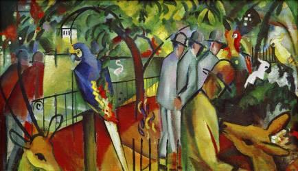 Jardin Zoologique I (August Macke) - Muzeo.com