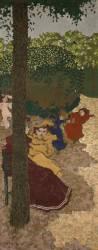 Jardins publics : fillettes jouant (Edouard Vuillard ) - Muzeo.com