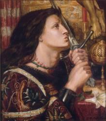 Jeanne d'Arc embrassant l'épée de la délivrance (Dante Gabriel Rossetti) - Muzeo.com