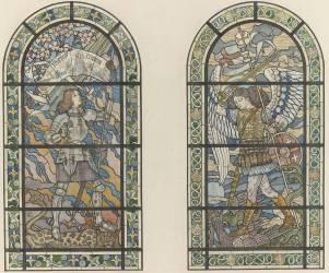 Jeanne d'Arc et saint Michel (Eugène Grasset) - Muzeo.com