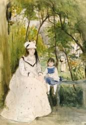 Jeune femme dans un paysage (Berthe Morisot) - Muzeo.com