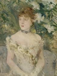 Jeune femme en toilette de bal (Berthe Morisot) - Muzeo.com