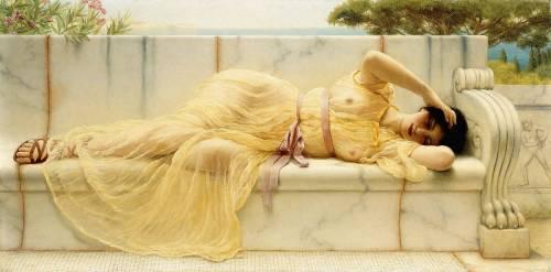 Jeune fille en Draperie Jaune (John William Godward) - Muzeo.com